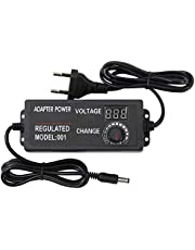 KKmoon AC to DC Adapter 3V-24V 2A Universal Adjustable Electricity Charge with Display Screen Regulated Voltage