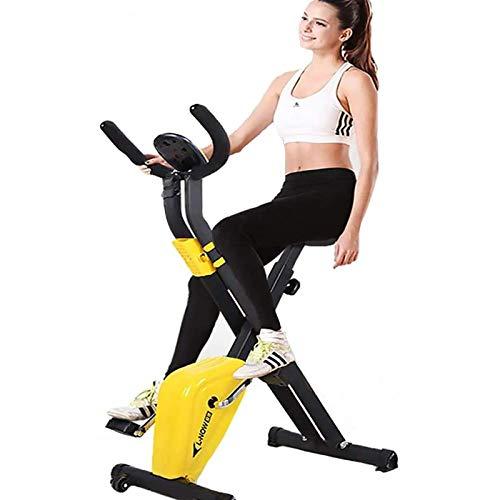 Tingeart Ultrasport Unisex F-Bike Bicicleta De Ejercicio Profesional Ajustable con Pantalla LCD, SillíN Extra Confort para Atletas Y Mayores Altura Regulable Amarillo 70 * 41 * 110Cm A