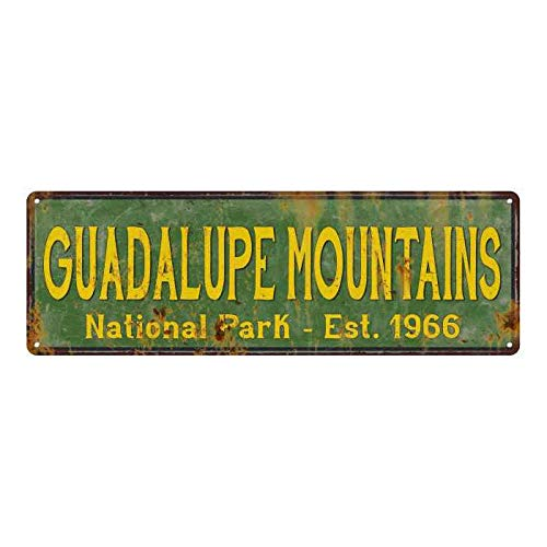 The454esa Guadeloupe Mountains National Park Rustic Metal Sign Decor Street Funny Plaque Door Sign