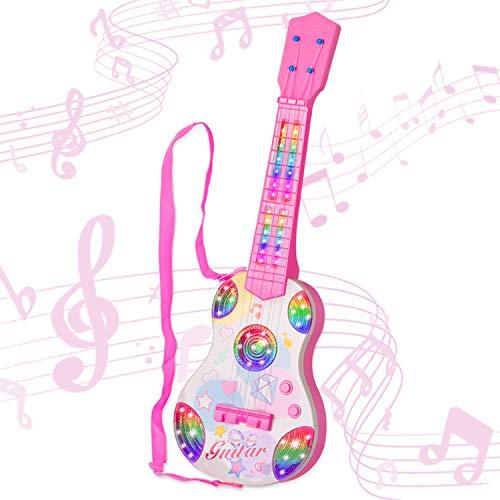 sanlinkee 4 Strings Kindergitarre,Spielzeug Gitarre für Kinder Baby ab 3 Jahren für Anfänger geeignet,...
