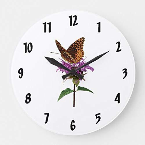 565pir Perlmutterfalter auf Lavendel Bienenbalsam Große Uhr