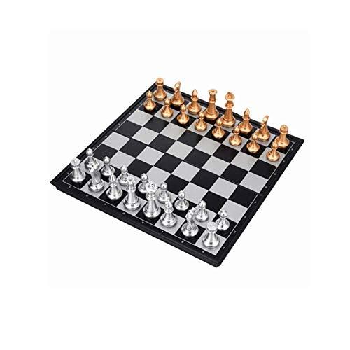 GLXLSBZ Juego de ajedrez, Juegos de ajedrez magnéticos de Viaje Portableed - Ajedrez Profesional 14 Pulgadas para niños, Adultos, Hombres, Mujeres, Adolescentes, Juguete