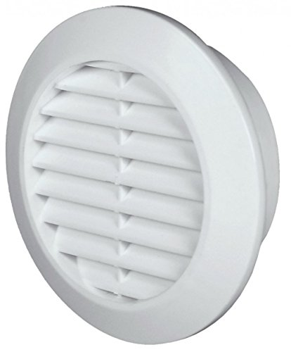 Lüftungsgitter Ø 60 mm rund weiß Insektennetz Abluftgitter Zuluft Abluft Gitter Lüftung T74