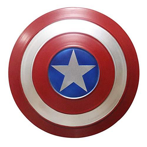 Marvel Avengers, Captain América Shield Full Metal 1 :1 Versión De Película - Modelo De Accesorios De Mano De Tamaño Único A,47cm