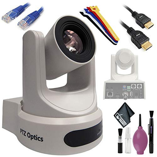 Discover Bargain PTZOptics 30X-SDI G2 Live Streaming Broadcast Camera (White) - Cleaning Kit - Strap...