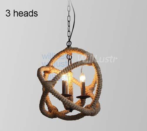 5151BuyWorld lamp lamp kaars hanger antieke hangende verlichting Cru Retro huis orb hennep industrie eettafel bar loft restaurant licht