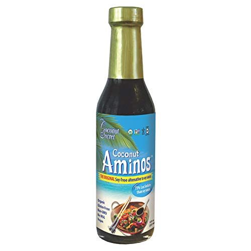 Coconut Secret Coconut Aminos - 8 fl oz - Low Sodium Soy Sauce Alternative, Low-Glycemic - Organic, Vegan, Non-GMO, Gluten-Free, Kosher - Keto, Paleo, Whole 30 - 48 Servings