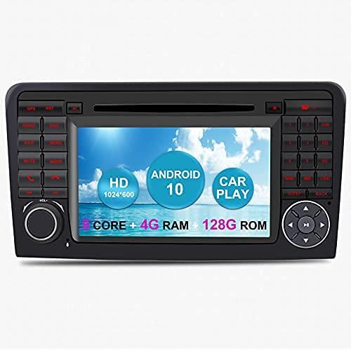 Android Auto Radio Estéreo de Coche para Mercedes Benz GL ML Clase W164 X164 ML350 ML450 ML500 GL320 GL450 Android 11 Octa Core 6GB RAM 128GB ROM 7' Reproductor de DVD para Coche GPS para Coche