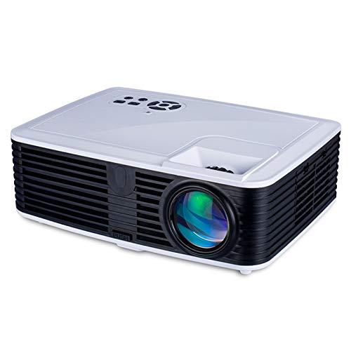 Proyector Inteligente VS768 Android 4000Ansi Lumens 1980x1080 Resolución LED + LCD Smart Projector, Soporte AV/HDMI/USB/VGA (Color : White+Black)
