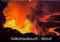 Vulkanausbruch - Island (Wandkalender 2022 DIN A2 quer): Spektakulaere Bilder der neuesten Vulkan Eruption in Island (Monatskalender, 14 Seiten )