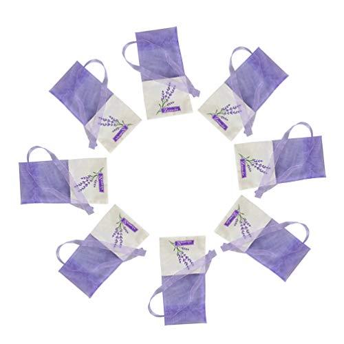 Homoyo - 30 bolsas de lavanda secas, para ropa, cajones, zapatos, viajes, sueño y coches.