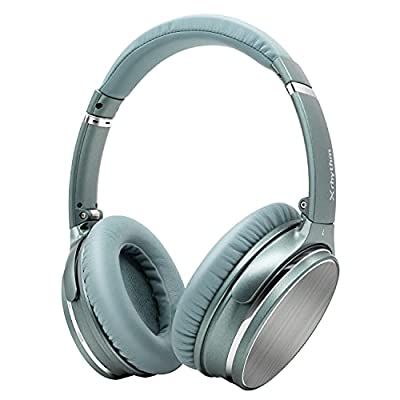 Wireless Noise Cancelling Headphones Bluetooth 5.0,Over-Ear Lightweight X1 Headset, 40+ Hours' Playtime for Homeoffice by Srhythm