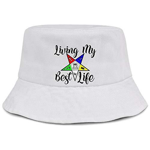 QILI OES-Living-My-Best-Life Men Women Novelty Bucket Hat Summer Travel Cap