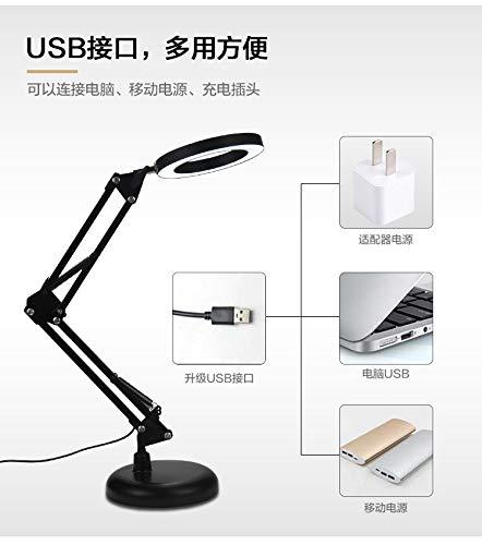 LED Vergrootlamp met Klem, Dimbaar Super Heldere 3 Kleuren Verlichte Vergrootglas Lampen