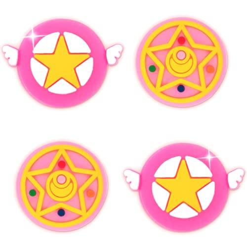 BelugaDesign Moon Sakura Thumb Grips   Anime Cute Kawaii Button Joystick Cap Cover   Compatible with Nintendo Switch (Pink)