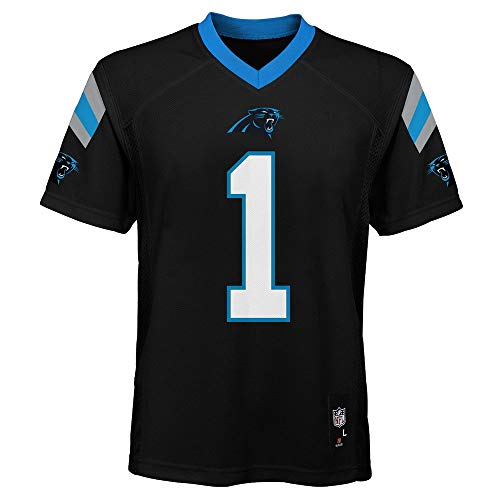 Outerstuff Cam Newton Carolina Panthers #1 NFL Youth Mid-Tier Jersey Black (Youth Medium 10/12)>