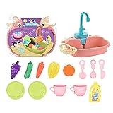 TOPVORK 1 conjunto de fregadero de cocina juguetes de simulación eléctrica lavavajillas con agua corriendo simulación de juego de rol juguetes para niños educación temprana