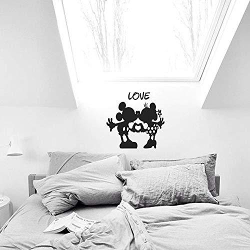 Tianpengyuanshuai Muurtattoo's kinderkamer kleuterschool vinyl muursticker liefde paar slaapkamer decoratie kus muur