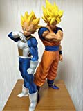 Mipojs 2Pcs/Set Dragon Ball Z Son Goku Fusion Gogeta Super Saiyan Anime Figure Awakening Gohan Trunks Father PVC DBZ Collection Model 18-25Cm