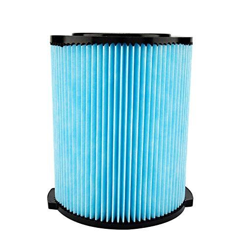 Filtro de vacío azul + negro, hecho de ABS + carbón activado lavable plisado diseño vacío filtro de repuesto