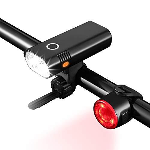TSAI Luz Bicicleta Recargable USB, 5 Modos 800 Lúmenes Luz Delantera Bicicleta,...