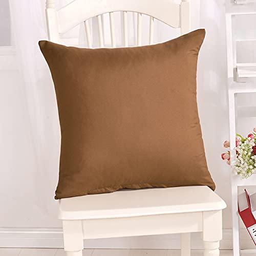 BANIKOP Funda de Almohada Simple de Color Caramelo para sofá, Funda de cojín de Color sólido, Funda de Almohada Decorativa para el hogar, Funda de cojín para Asiento de Coche