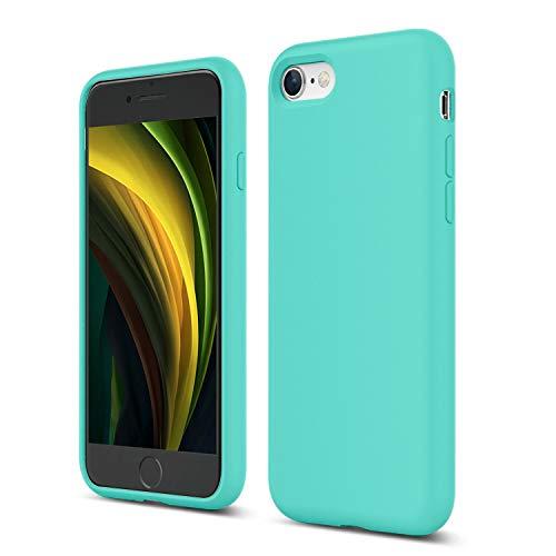 ZUSLAB Nano Silicone Funda para iPhone SE 2020/iPhone 7/iPhone 8 Case Líquido de Silicona Gel Menta Verde