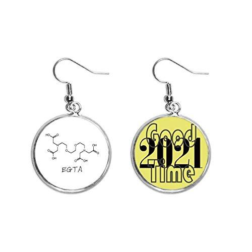 Chemie EGTA Chemische Struktur-Formel Ohrringe Ohranhänger Schmuck 2021 Viel Glück