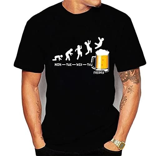 Manga Corta Hombre Verano Básica Versión Regular Cuello Redondo Hombre T-Shirt Moderna Urbana Creativa Novedad Estampado Hombre Shirt Diario Casual All-Match Casuales Camisa T25278 3XL