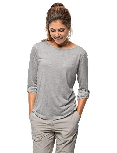 Jack Wolfskin Damen Coral Coast 3/4 T-Shirt, Light Grey, XXL1806531.0