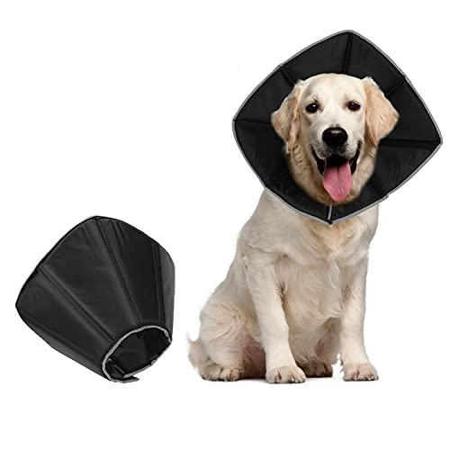 Yideng Collare a Cono per Cani, per chirurgia, Morbido Collare Elisabettiano con Fibbia Regolabile per Recupero Animali Domestici con Design Riflettente per Cani e Gatti Recupero da chirurgia (M)
