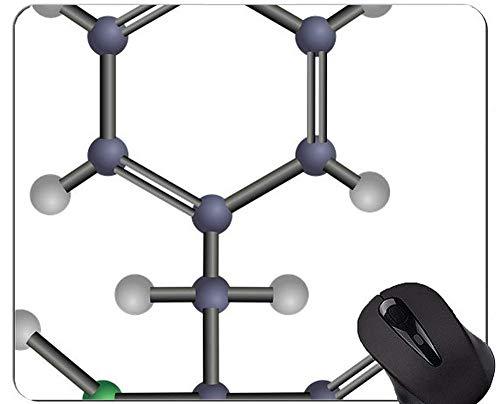 Abstrakte Wissenschafts-Chemie-Illustration Mauspads Besonders angefertigt, Phenylalanin-Mausunterlage mit genähtem Rand