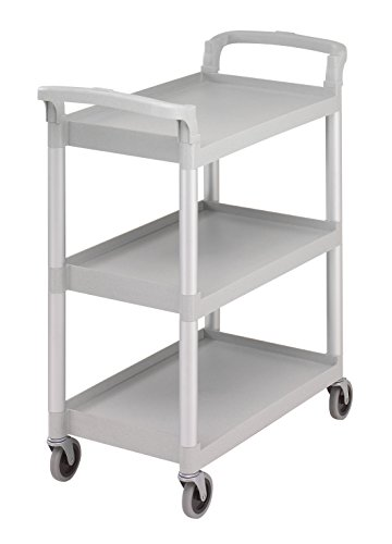 Cambro Utility and Service Cart, Great for Storage, Snacks, Books, Classroom, 300 lbs. Capacity, Gray