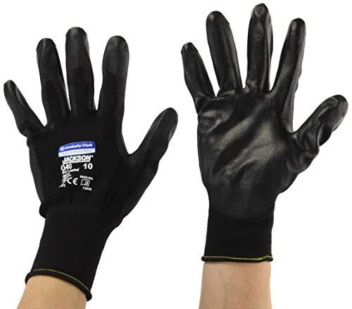 Kimberly Clark 13840 Jackson Safety G40 Polyurethanbeschichtete Handschuhe, Handspezifische Paare, Schwarz (60-er pack)