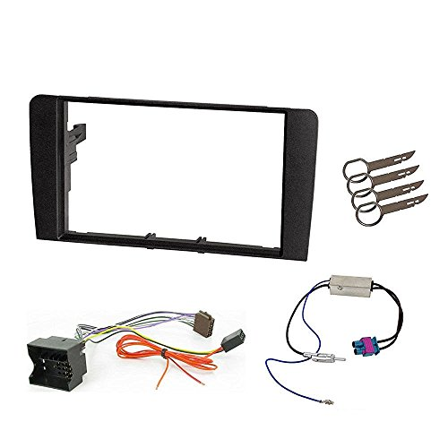 Double Din 2 DIN Fitting Kit Fascia Car stereo Installation kit for Audi A3 2004 to 2012