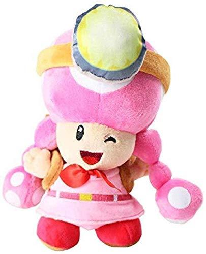 MDU-AFL Plush Toys Bros Mushroom Toadtte Adventure Backpack Pink Toadette Soft Stuffed Dolls 20cm Best Gift Small Speakers