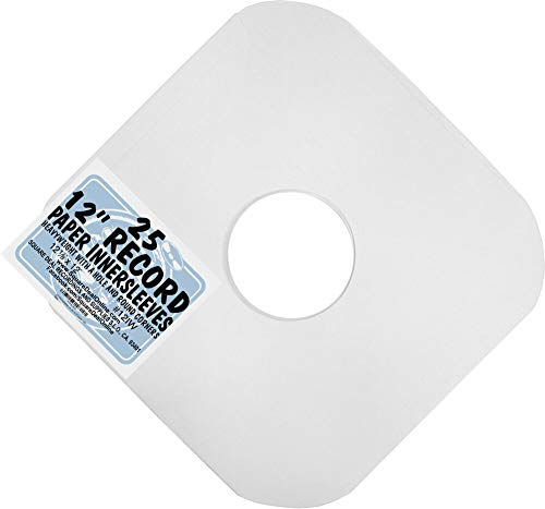 "(25) Archival Quality Acid-Free Heavyweight Paper Inner Sleeves for 12"" Vinyl Record Albums #12IW"