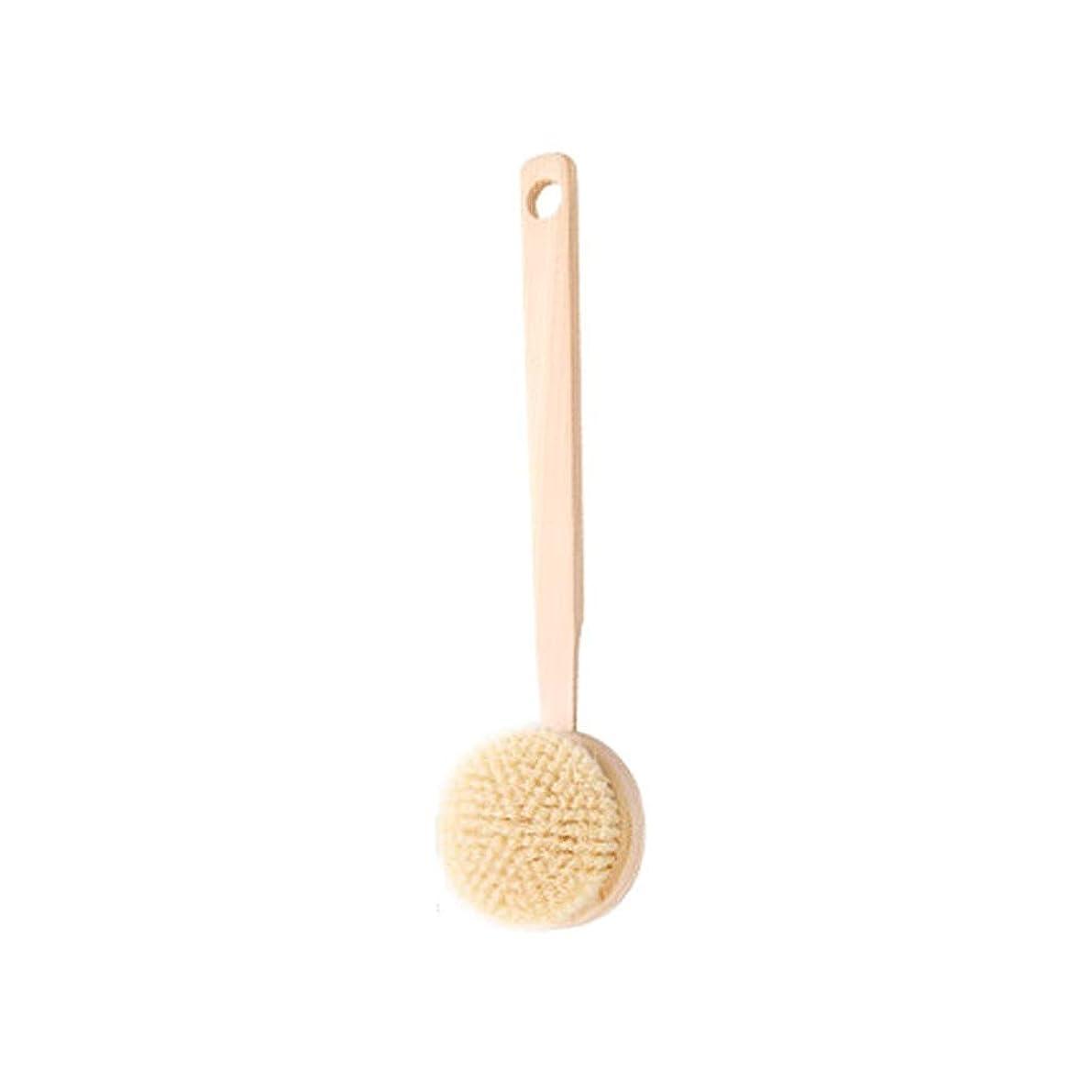 尊敬する入浴中級バスブラシバックブラシロングハンドルやわらかい毛髪バスブラシバスブラシ角質除去クリーニングブラシ (Color : A)