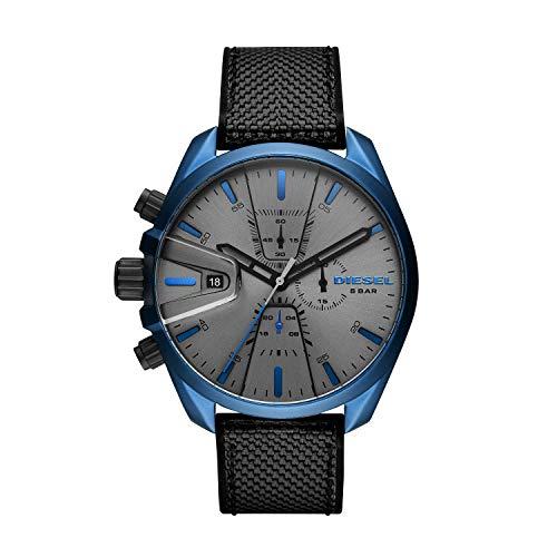 Diesel Unisex Erwachsene Chronograph Quarz Uhr mit Nylon Armband DZ4506