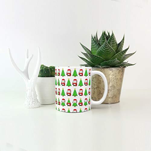 O5KFD & 8 11 ounce leven Kerstmis drankjes cacao beker beker met handvat porselein glossy beker mok - leven heren heden heden - geschikt voor familie te gebruiken