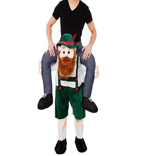 Halloween Carry Beer Guy Mascot Me Ride On Oktoberfest Costume Ride on Costume Gray