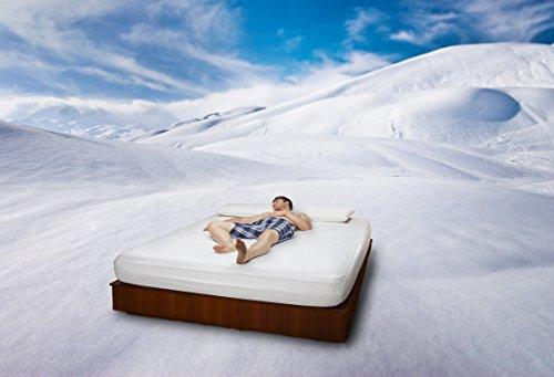 BSensible Polaris hoeslaken, koud en beschermend, Tencel, natuurlijke kleuren, 80 x 200 cm