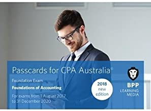 CPA Australia Foundations of Accounting: Passcards