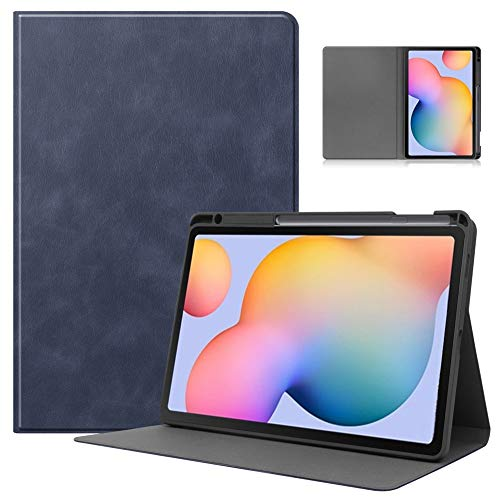 GHC PAD Cases & Covers For Samsung Galaxy Tab S6 Lite 10.4 2020 P610/P615, Auto-Sleep/Wake Up Pen Slot Leather Shockproof Protective Bracket Case For Samsung Galaxy Tab S6 Lite 10.4