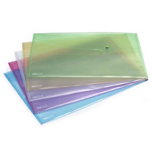 Rapesco documentos - Carpeta A3 en colores traslúcidos. 5 unidades