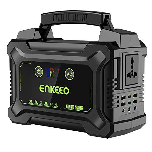 ENKEEO - 220Wh Generador Solar Portátil, 10 Puertos Output(USB/QC3.0/AC/DC),...