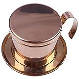 Beada - Filtro da caffè Vietnamita in acciaio con tazza singola Vietnam Hand Punch Pot filtro per caffettiera Vietnamita, per uso esterno, colore: Oro rosa