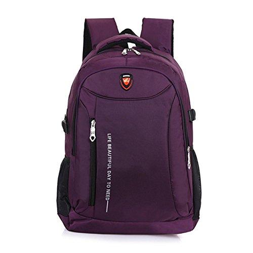 Portable Voyage sac à dos Oxford tissu multifonctions Outdoor sport loisir sac à dos escalade randonnée équitation étudiants Bag H52 x L36 x T18 cm , purple