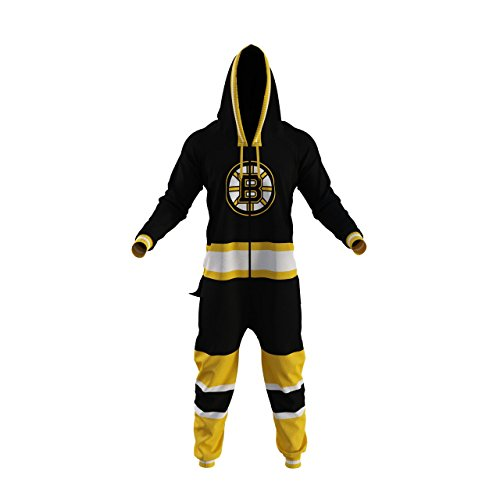 Boston Bruins NHL Onesie Hockey Sockey Fans Apparel Adult Unisex (L)