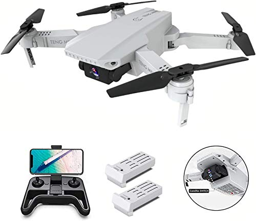 0BEST Mini Drone con videocamera HD 4K, Posizionamento del Flusso Ottico a Doppia videocamera, Mantenimento dell altitudine, modalità Senza Testa,quadricottero Pieghevole WiFi FPV, per Principianti
